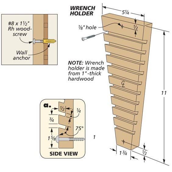 Custom Pegboard Tool Holders   Woodsmith Tips