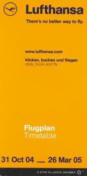 Lufthansa Timetable, 2004