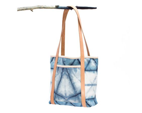 The Rhoads Bag : Shibori Canvas by GrahamKeegan on Etsy, $419USD pockets on all sides inside, flap pocket on one long side
