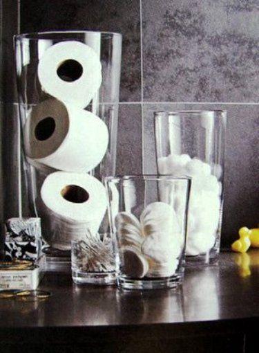 Organizador de vidro para banheiro