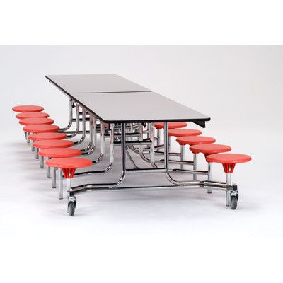 """National Public Seating 145"""" x 59"""" Rectangular Cafeteria Table"""