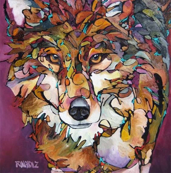 Wolf with a Calling  by Amy Ringholz