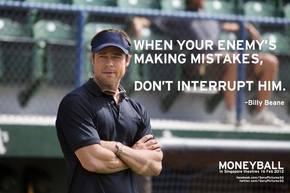 Billy Beane (Brad Pitt) Moneyball movie quote #movies #quotations