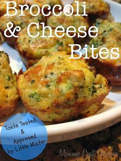 Mommy's Obsessions: Broccoli and Cheese Bites - Taste Tested & Approved by Little Mister