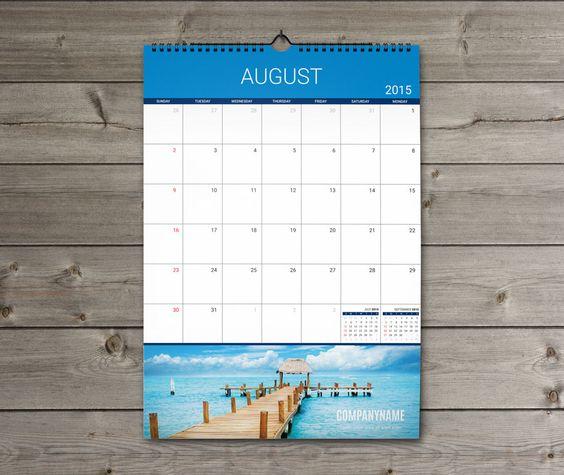 Hanging Calendar Design : Template kw w sheets monthly wall planner calendar