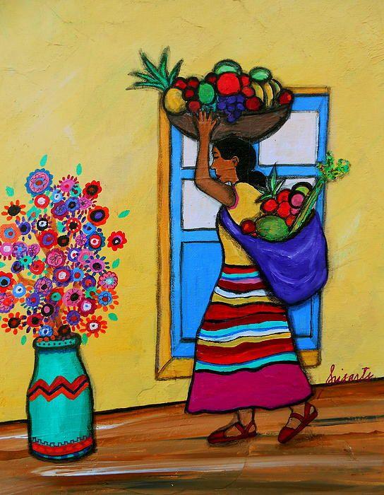 Folk art restaurant and painting prints on pinterest