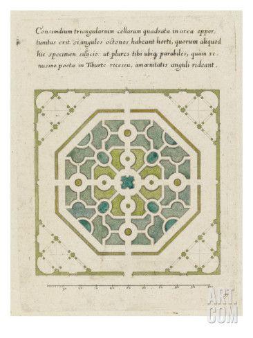 Art.fr - Impression giclée 'Modèle de parterre de jardin octogonal'