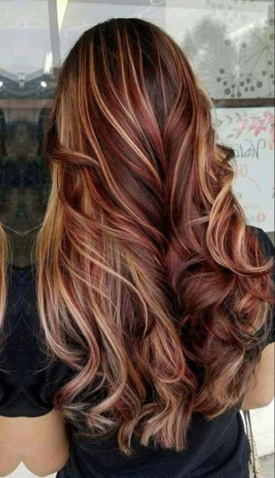 Red Blonde And Brown Hair Red Hair Hair Red Redhair Perfect Hair Color Brunette Hair Color Fall Hair Color For Brunettes