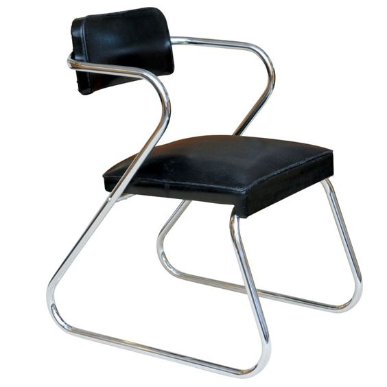 Gilbert Rohde Style 39 Z 39 Chair By Royalchrome Gilbert O