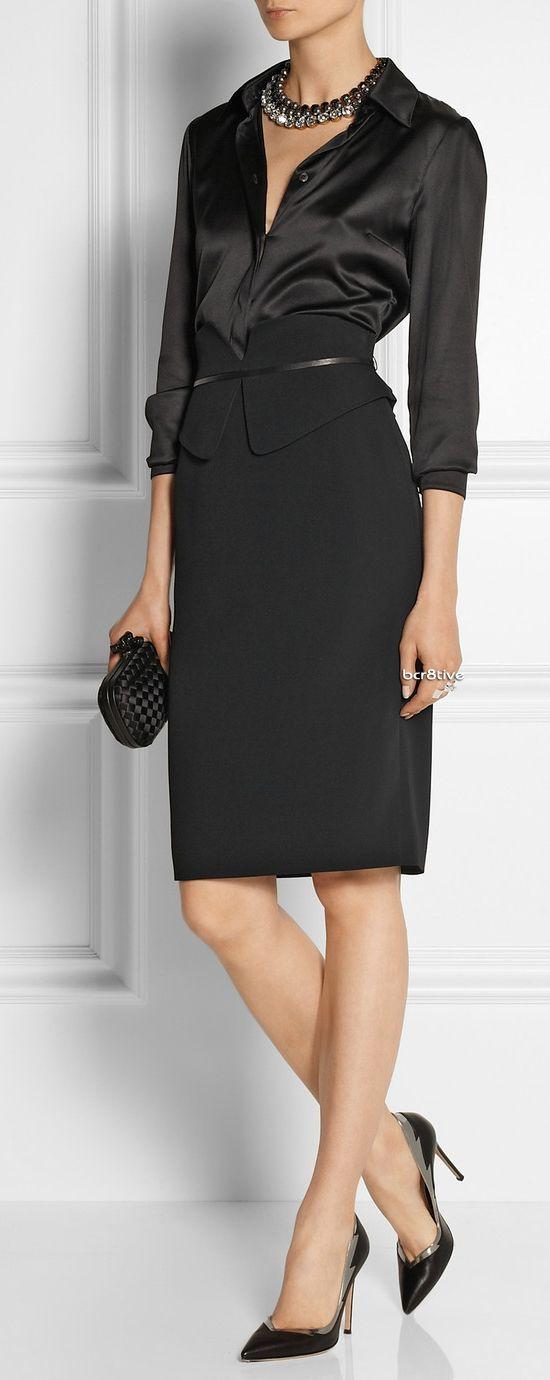 workwear fashion skirts and black silk