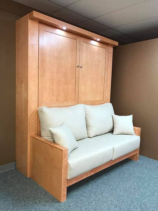 Murphy Bed With A Sofa In Front Of It Murphy Bed Sofa Murphy Bed Desk Murphy Bed Diy