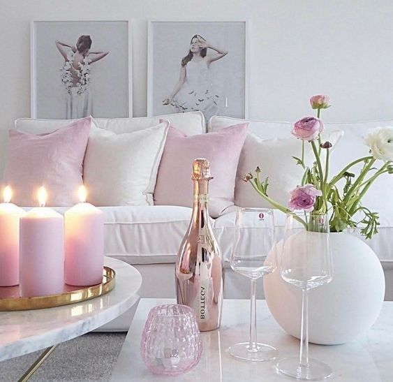 11 Spring Home Decor Ideas With Pastel Color Godiygo Com In 2020 Pink Living Room Decor Romantic Living Room Pastel Room Decor #pastel #colors #for #living #room