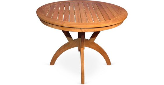 """A classic slatted design in naturally weather- and pest-resistant teak makes this 36-inch round pedestal table an instant outdoor favorite.Teak is as strong as it is beautiful, as well as... Teak 36""""Dia Table Regal Teak $649.00 $1,065.00 39% Off"""