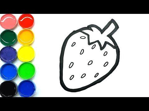 Cara Menggambar Dan Mewarnai Buah Strawberry Mudah Untuk Anak Di