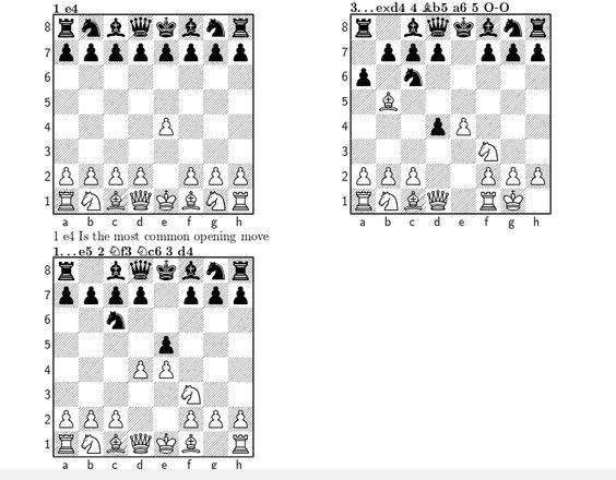 Chess notation - ShareLaTeX, Editor de LaTeX online