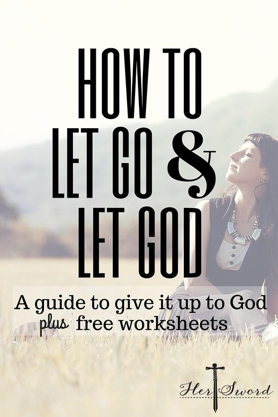Are you worrying or obsessing? In this guide I explain how to let go and let God. Includes a free worksheet.