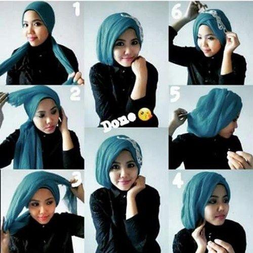 Tutorial Hijab Pashmina Segi Empat Untuk Kebaya Kursus Hijab