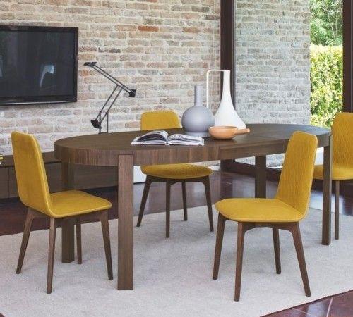 Calligaris Sami Dining Chair Mustard Yellow Yellow Dining
