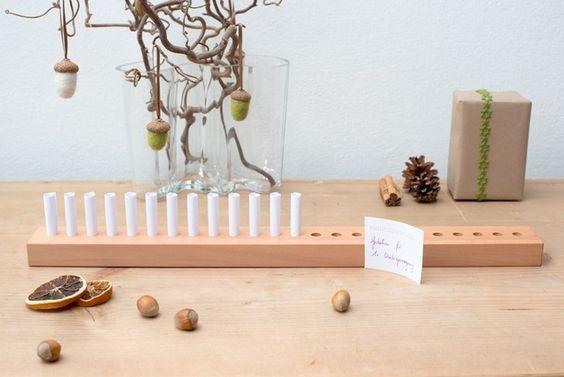 Adventskalender - Adventskalender Birnbaum - ein Designerstück von Klotzaufklotz bei DaWanda