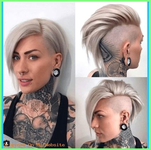 Kurzhaarschnitt Frauen 2019 8 Sidecut Mohawk Frisur Min Frisuren Haarschnittkurzfrau Haa Mohawk Frisur Kurzhaarschnitt Frauen Haarschnitt Kurz