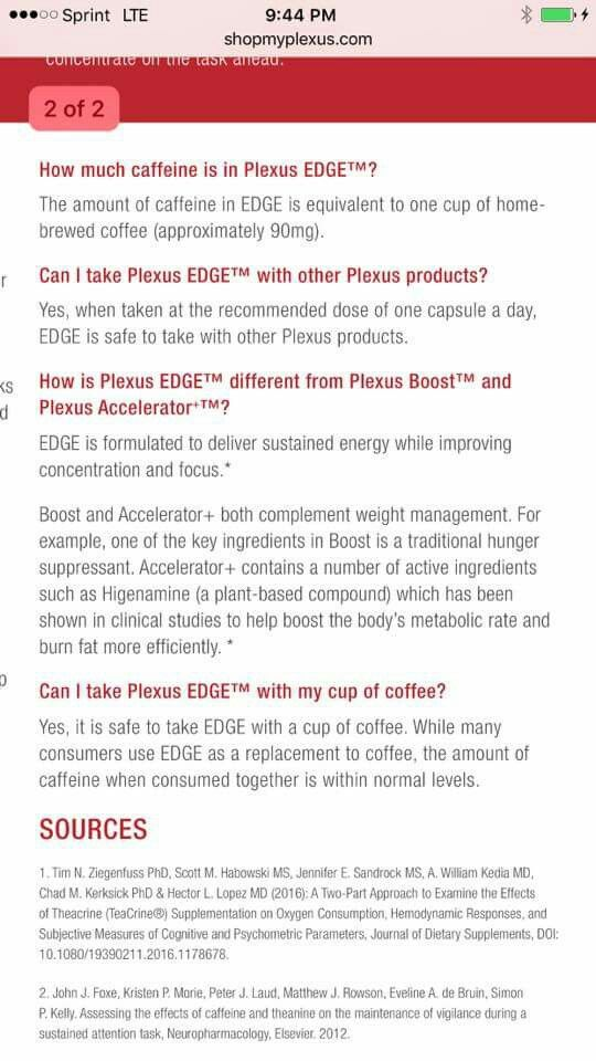 Edge &slim can be safely taken together (per corporate)