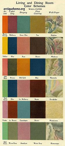 1930s Interior Design City | 1926 Sears Interior Design & Color / a set by Daily Bungalow
