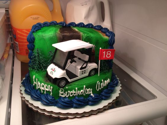 Golf themed birthday cake(Walmart) Yummy in my tummy