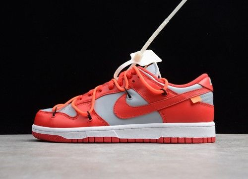 Nike Off White X Dunk Sb Low Univeristy Red Wolf Grey Ct0856 600