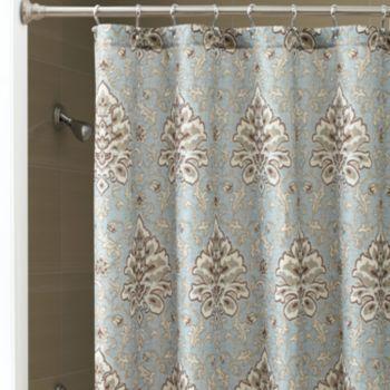 Master bath chapel hill by croscill savannah fabric shower curtain ideas for the home for Savannah bathroom accessories