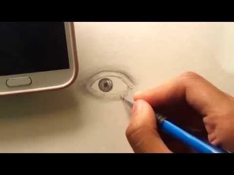 كيف تبدأ رسم شخصيات حقيقة رسم العين و الرموش 1 2 Youtube Samsung Galaxy Phone Galaxy Phone Youtube
