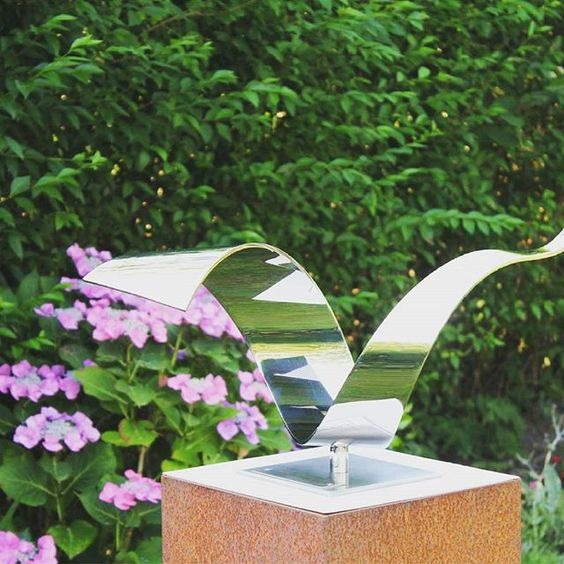 Wave stainless steel #abstract sculpture - #modern-art Mirror polished