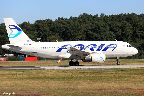 S5-AAX,  Bild vom 25.08.2016 in Frankfurt, FRA, CN 1000, Airbus A319-100, Adria Airways