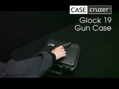 Glock 19 case holds one handgun with room for three magazines. Gun case can be locked for extra protection. Case features a lifetime warranty and is made in the USA.