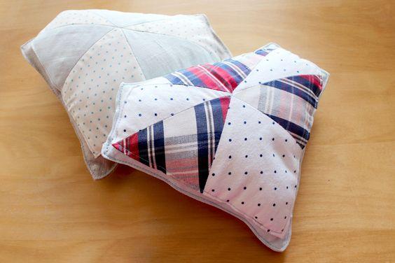 Diamond cushion DIY tutorial