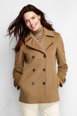 Women's Petite Luxe Wool Pea Coat