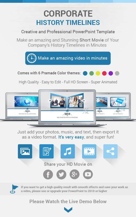 Annual Report PowerPoint Template by CreativeSlides on - history powerpoint template