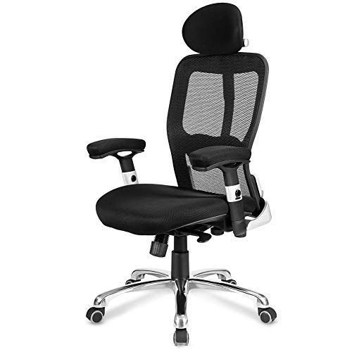 Thole Computer Chair Office Chair Swivel Net Desk Chair Ergonomic Recliner With Padded Footrest Height Adjustable Computer Chair Office Chair Desk Chair
