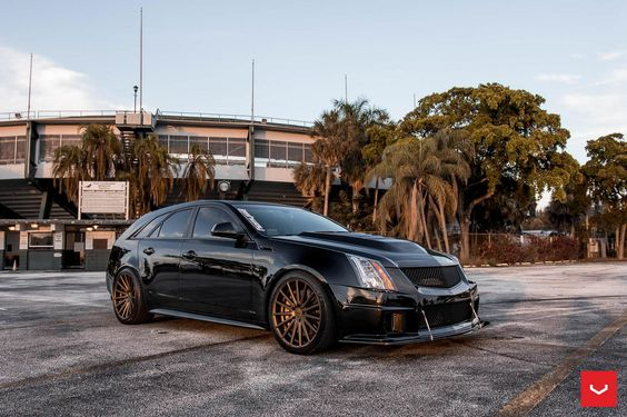 This 850hp Cadillac CTS-V Wagon on Vossen VFS-2 wheels in Satin Bronze looks the part and plays the part.