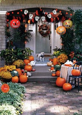 fun halloween porch