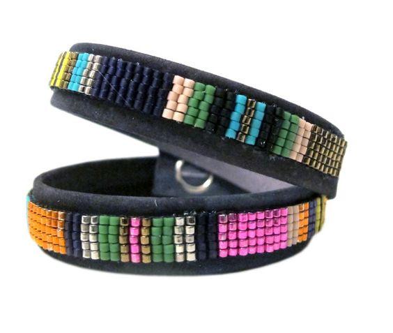 Beaded Leather Wrap Bracelet | Isaro by Jill Golden, Designed in New York, Handmade in Rwanda