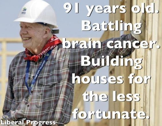 True Strength, Integrity and Values...Jimmy Carter is a great person