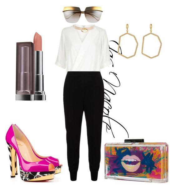 """Ja'Nacole829"" by jasnacole ❤ liked on Polyvore featuring River Island, STELLA McCARTNEY, Christian Louboutin, Christian Dior, Maybelline, Vince Camuto and I Still Love You NYC"