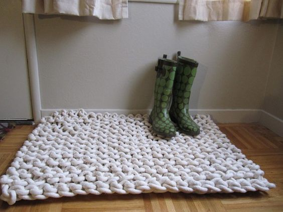 Giant Knit Rugs by Mary Marie Knits