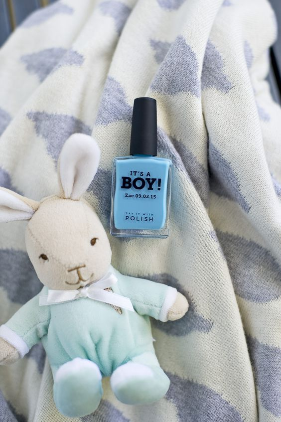 Blue nail polish, gift Ideas, Its a boy