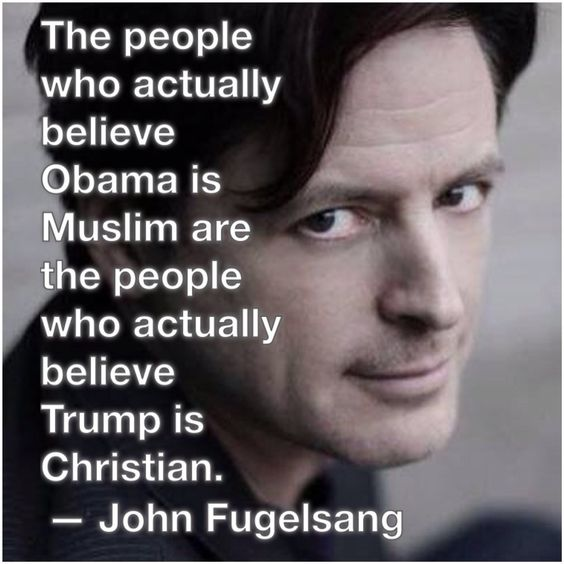 The people who believe President Obama is Muslim, are the same people who actually believe donald trump is Christian: