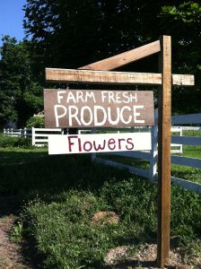 Produce stand sign