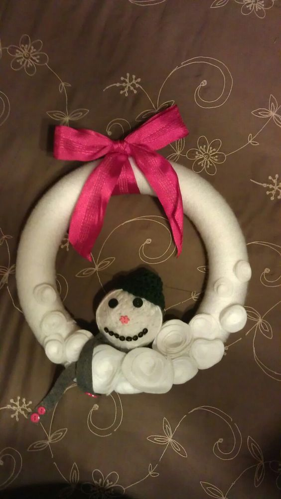 Melting snowman wreath