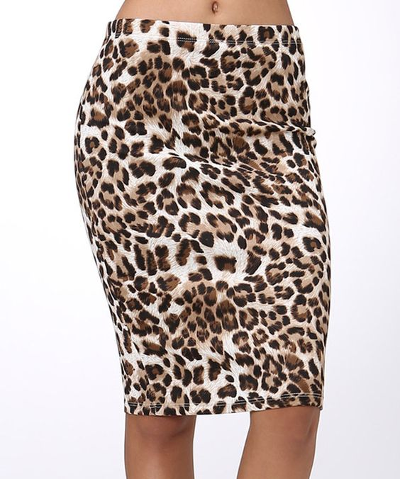 Look at this Tan & Black Pencil Skirt on #zulily today!