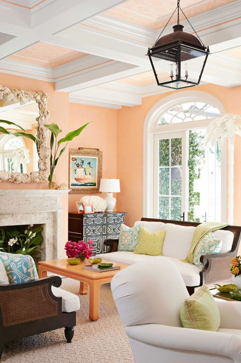 19 Beautiful Painting Ideas Peach Living Room Paintingideas Livingroomdesign Sofadesign In 2020 Peach Living Rooms Paint Colors For Living Room Living Room Paint