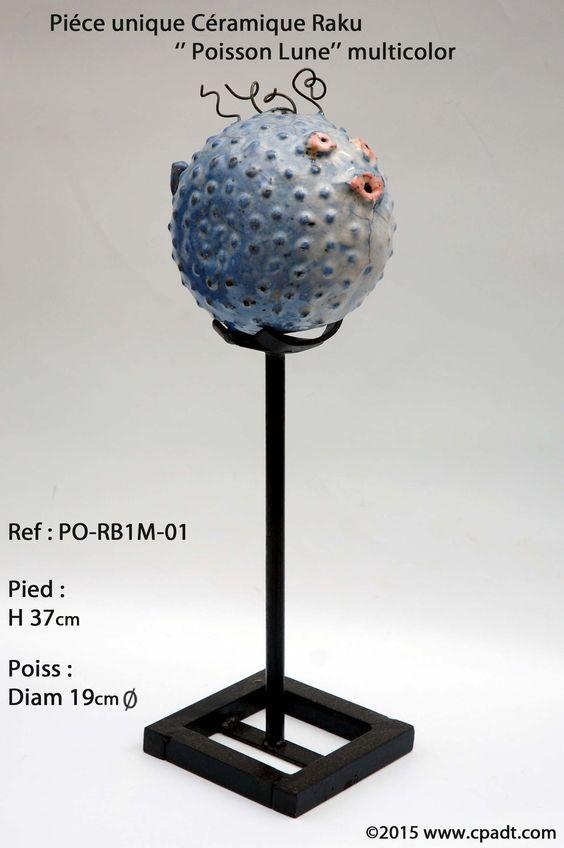 Poisson Lune Pièce unique #céramique #raku  Pour plus de détails contactez site web :www.cpadt.com mail :contact.cpadt@yahoo.com  Tél : 00 33 (0) 1 85 76 08 42 Tous les produits disponibles N'hésitez pas à commander dés maintenant